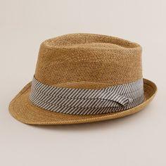 J.Crew - Straw Chambray Trilby Hat
