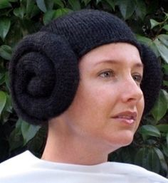 Princess Leia Knitted Hat- who will make me one! :)