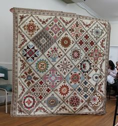 Quilts In The Barn: Castlemaine Applique Group. -- Antique Wedding Sampler designed by Di Hall