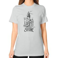 Graham let your light shine Unisex T-Shirt (on woman)