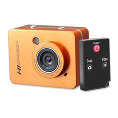 Pyle-sport 12.0 Megapixel 1080p Action Camera With 2.4'' Touchscreen (orange)