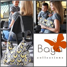 Check out Baya Collections NEW Messenger style diaper bag and Park Place Diaper Clutch!
