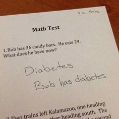 math is where everybody gets some type of sickness :)