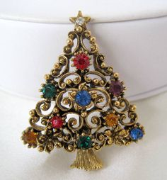 Vintage+JJ+Christmas+Tree+Brooch+Pin