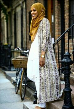 Ihtihaj Muhammad-I absolutely love this entire outfit! Arab Fashion, Islamic Fashion, Muslim Fashion, Modest Fashion, Unique Fashion, Modest Wear, Modest Dresses, Modest Outfits, Hijab Chic