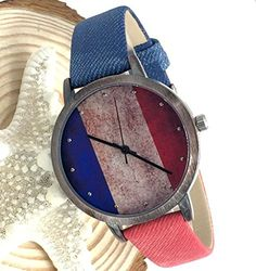 Kezzi Women's K1048 Casual Quartz French Flag Dial Watch Blue Red Leather Strap Kezzi http://www.amazon.com/dp/B00WTOLNKQ/ref=cm_sw_r_pi_dp_gLzvvb1MCD5BF