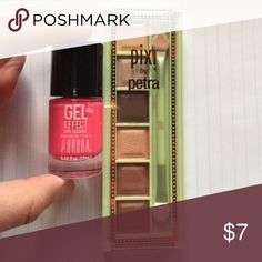 Eyeshadow palette plus nail polish Got these two products as part of a Christmas gift but they are not really my style. I tried the eyeshadow but the colors are too dark for my taste. The pixi palette retails for $12 and the polish for $6. I have never used the polish since I don't like neon. pixi beauty Makeup Eyeshadow
