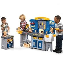 New Home Pro Play Workshop Bench Workbench Tools Toddlet Childs Workshop Bench, Toys R Us Canada, Pretend Play, Toy Store, Kids Toys, New Homes, Children, Basement Ideas, Tools