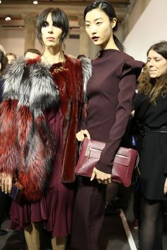 Backstage at Lanvin Fall 2013, still love this deep oxblood color, perfect for Fall