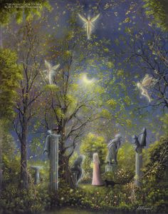 """""""The Night Calls To Her"""" Original Landscape Painting. – The Art of Philippe Fernandez"""