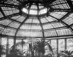 Interior Greenhouse Photo of Niels Poulsen's Copper House Conservatory circa 1915
