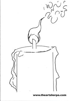 Candle Traceable for the Art sherpa how to paint a Candle with Drips: