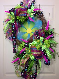 Spring/ Summer Grapevine Wreath on Etsy, $75.00
