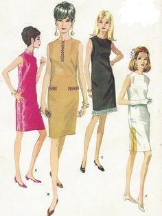 década de 1960 las mujeres MOD vestido en seis versiones solía