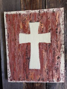 Rustic Cross on Canvas , wall art on Etsy, $30.00