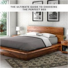The Ultimate Guide to Choosing the Perfect Bed  You've finished decorating your bedroom and it's practically fit for a king. Before you upgrade your bed and give it the royal treatment, you might want to consider if a king will actually fit.  From the smallest to largest, here's the rundown on beds of all sizes and tips to make sure the bed that you choose isn't too small or too large.  Here's the ultimate guide to choosing the bed that's just right #Solidwoodbed #Platformbeds