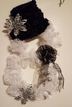 Christmas Wreaths, Snowman Wreaths, Holiday Wreaths, Snowman Wreath, White Wreath, Christmas Wreath by WEEDsByRose on Etsy