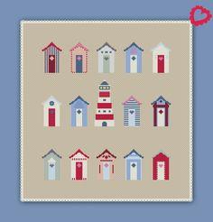 2499 Stickvorlage Kreuzstich Urlaubslust Cross Stitch Designs, Cross Stitch Patterns, Knitting Patterns, Crochet Patterns, Cross Stitch Cards, Cross Stitching, Stitch Lines, Hand Sewing, Needlework