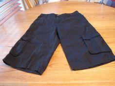 Boy's youth 16 DKNY casual shorts black 001 DBS28595 NEW NWT walk school 29 in