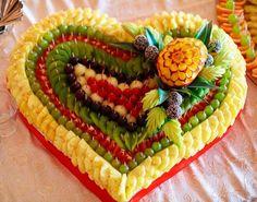 Карвинг. Сердце из фруктов. #день_Святого_Валентина,#день_влюбленых,#романтический_ужин