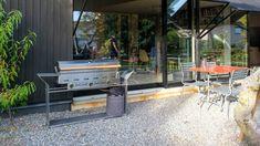 Mal was anderes: der Grillmeter im stilvollen Untergestell Grills, Patio, Outdoor Decor, Home Decor, Stainless Steel, Decoration Home, Terrace, Room Decor, Porch