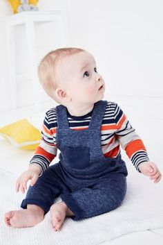 Navy Dungarees (0mths-2yrs)
