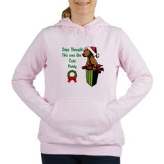 Admit it, you know you're cute! Enjoy this Oops Cute Party Women's Hooded Sweatshirt on sale for %58.50 at Cafe Press Canada #UglySweater #Swagbucks #CandyCaneGang