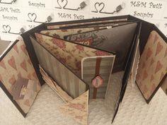 Álbum de scrapbooking con encuadernación espina....este tutorial es sólo de la estructura, en breve colgaré como decorarlo.