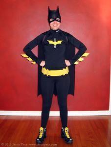 79 best diy batman costume images on pinterest diy batman costume diy superhero costume diy make a quick and easy batwoman or batgirl costume solutioingenieria Images