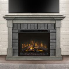 Electric Fireplace With Mantel, Electric Fireplace Reviews, Brick Fireplace, Fireplace Surrounds, Fireplace Design, Fireplace Mantels, Fireplace Ideas, Fireplace Remodel, Fireplace Modern