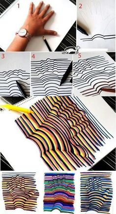 I did this once in art class. It is really easy, you just need to get all your lines straight or it won't work