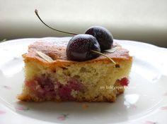 Dark Cherry and Almond Cake  http://mylittleexpatkitchen.blogspot.ca