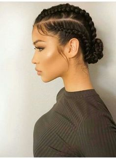 Super Cute And Creative Cornrow Hairstyles You Can Try T.- Super Cute And Creative Cornrow Hairstyles You Can Try Today conrows-great-for-summer More - Super Cute Hairstyles, Down Hairstyles, Creative Hairstyles, Natural Cornrow Hairstyles, Black Hairstyles, Hairstyles With Braiding Hair, Hairstyles For Curly Hair, 4 Braids Hairstyle, Relaxed Hairstyles
