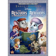 Rescuers: 35th Anniversary Edition/The Rescuers Down Under [3 Discs] [DVD/Blu-ray]
