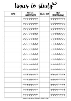 62 Ideas Organization Study Planners Organisation For 2019 Planning School, School Planner, College Planner, Student Planner Printable, Calendar Printable, Planner Template, School Organisation, College Organization, University Organization