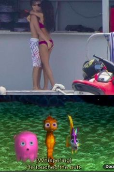 Saw the top picture and knew instantly what the Finding Nemo characters were gonna say:)