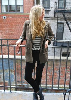 military chic style. fashion