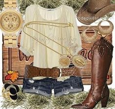 Always loved the Country look~Love these boots especially!~