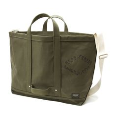 Simple canvas tote by Japanese brand, Head Porter