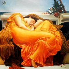 Flaming June by Lord Frederic Leighton.