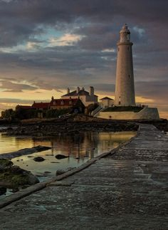 Alan St Mary's lighthouse U K