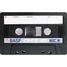 A Gallery of Vintage Blank Audio Cassette Tapes ❤ liked on Polyvore featuring fillers, music, backgrounds, extras and misc