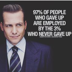 97% of people give up