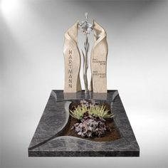 Einzelgrabsteine modern Fulda Tombstone Designs, Grave Monuments, Funeral, Diy And Crafts, Vase, Memories, Modern, Architecture, Deserts