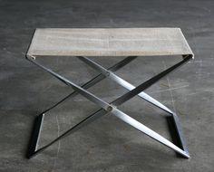 Poul Kjaerholm PK91 folding stool, canvas