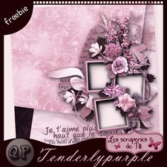 """digiscrap-party : QP tenrderlypurple by Titi82 - forum dedicated to sharing freebies - Just a """"thank you"""" and download :) => you have to register AND present yourself in order to be accepted as a member, then answer each post (thanks) to see the download link :) --- #freebie #digiscrap #digitalscrapbooking"""