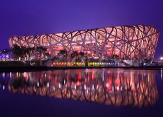 Bird's Nest - The National Stadium of Beijing was designed as a Bird's Nest. In this stadium, the opening ceremony of 2008 Olympic Games was held.