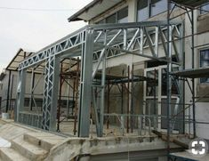 Portfolio of The Lightweight Steel Structures Factory - UnicRotarex®. Steel houses and industrial buildings done by our technology in the entire world. Steel Frame House, Steel House, Construction Container, Metal Stud Framing, Window Grill Design, Architectural Engineering, Cove Lighting, Still Frame, Steel Buildings