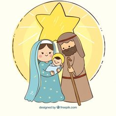 Descargar Christmas Background With Nativity Scene gratis - para imprimir - Christmas Nativity Scene, Christmas Images, Christmas Art, Vector Christmas, Cute Christmas Wallpaper, Christmas Background, Clipart Noel, Jesus Cartoon, Happy Christmas Day