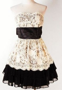 Lace dress for a dance, maybe? But homecoming was on Friday... Not that I would have gone, anyways.